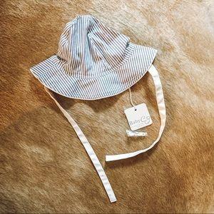 NWT Baby CZ Striped Sun Hat